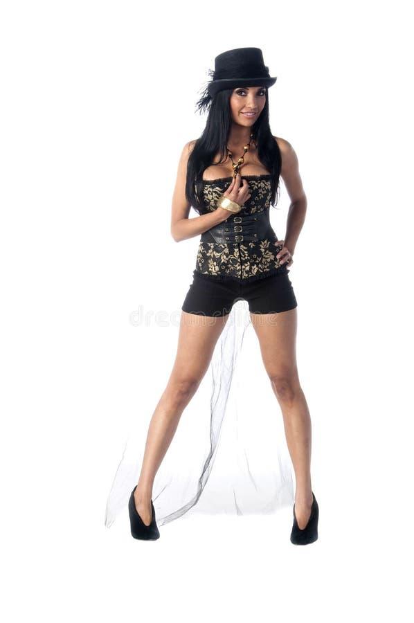 corseteshattöverkant royaltyfria bilder