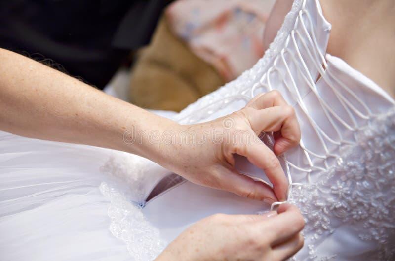 Corsetto del vestito da cerimonia nuziale fotografia stock libera da diritti