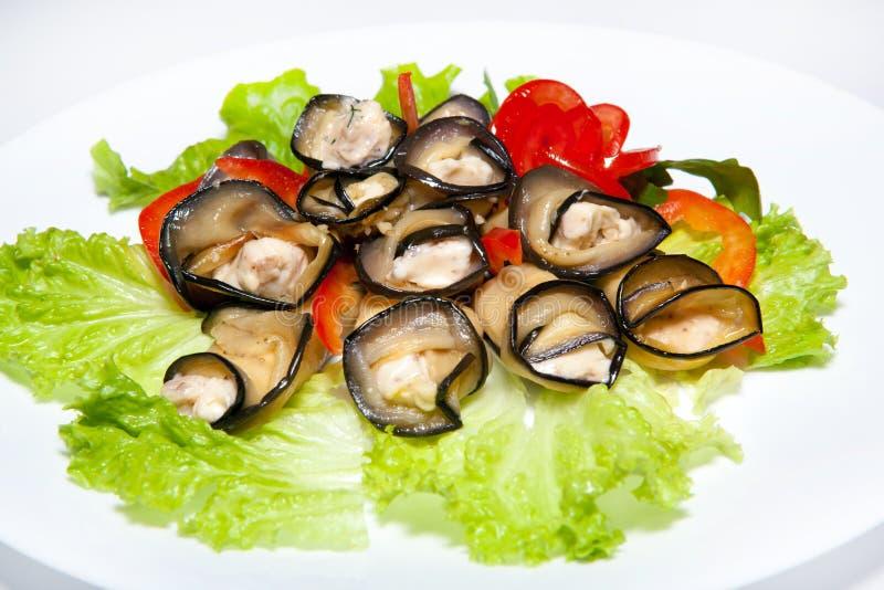Corsi degli aperitivi, delle insalate, prime e seconde, minestra fotografie stock