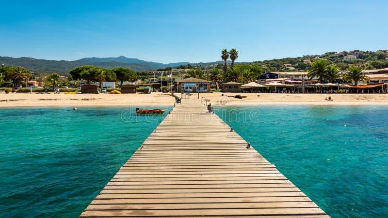Corsica beach. Photo of Corsica beach, France royalty free stock image