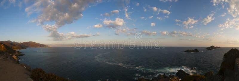 Iles Sanguinaires, Gulf of Ajaccio, Corsica, Corse, France, Europe, island. Corsica, 01/09/2017: the breathtaking sunset on the Iles Sanguinaires, the Bloody stock photo