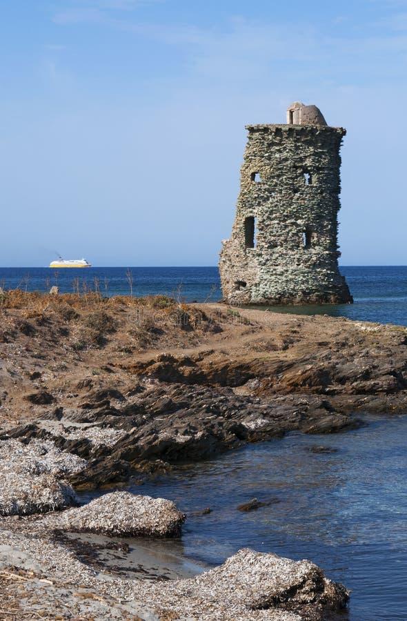 Corsica, Corse, Cap Corse, Hogere Corse, Frankrijk, Europa, eiland stock foto