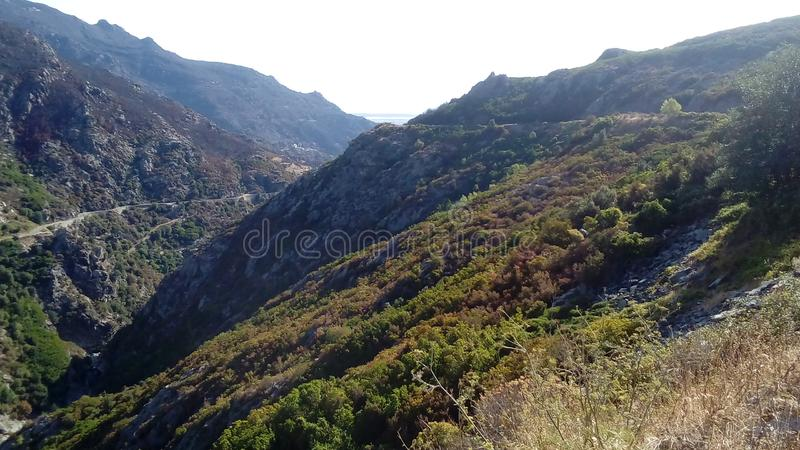 Corsica&en x27; s-paysages royaltyfri bild