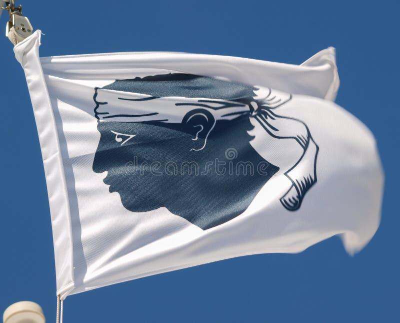 Corsica flag. With man head stock image