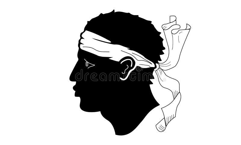 corsica flaga royalty ilustracja