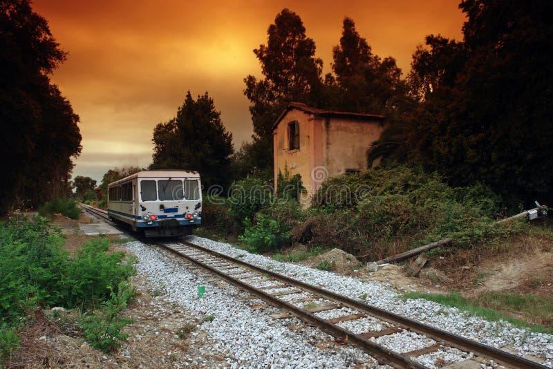 corsica järnväg royaltyfria bilder