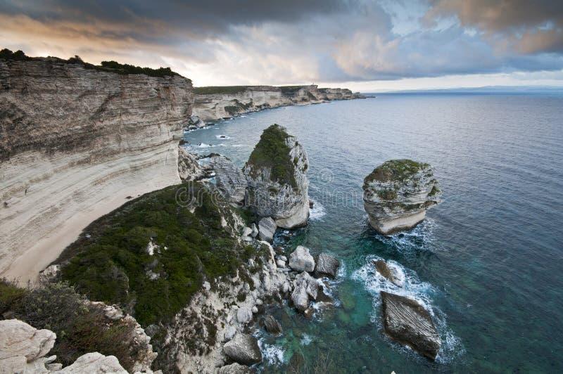 Corsica kustlinje royaltyfria foton