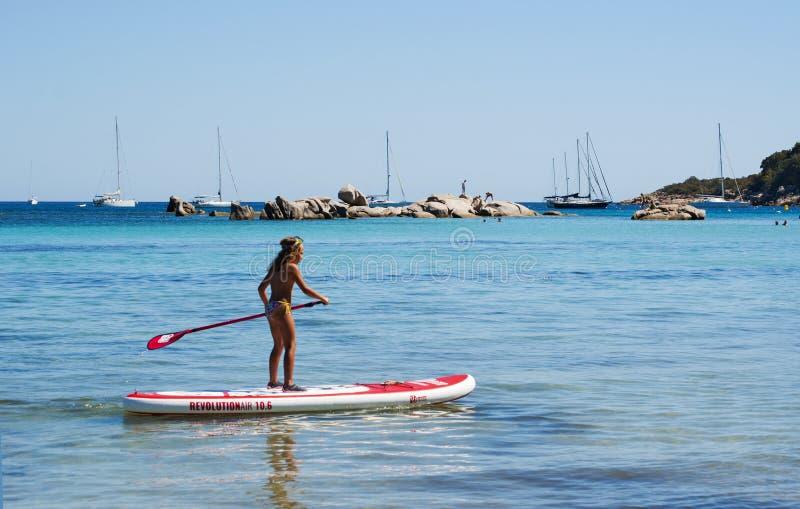 Corsica, Santa Giulia beach, sea, south, coastline, France, Europe, island, summer, stock image