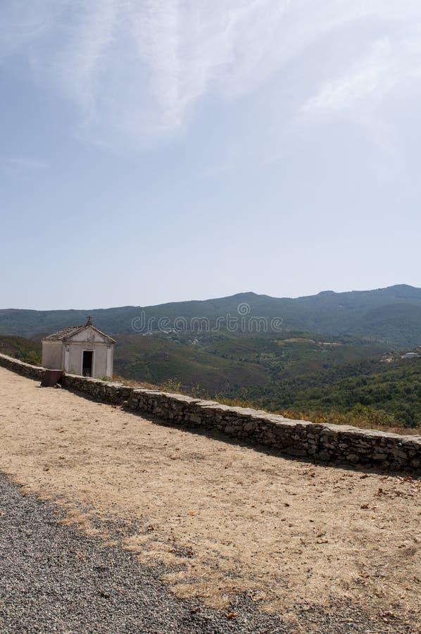 San Michele de Murato, church, Murato, Haute-Corse, Corsica, France, island, Europe. Corsica, 29/08/2017: a little white chapel built in the countrye, in the royalty free stock photography