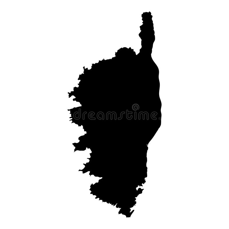 Corsica mapa ilustracji