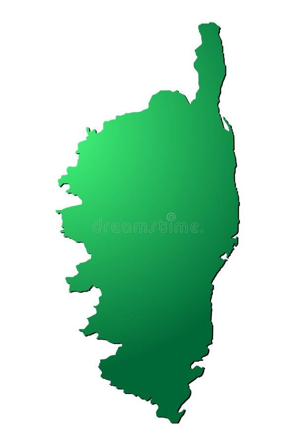 Corsica mapy wektor royalty ilustracja