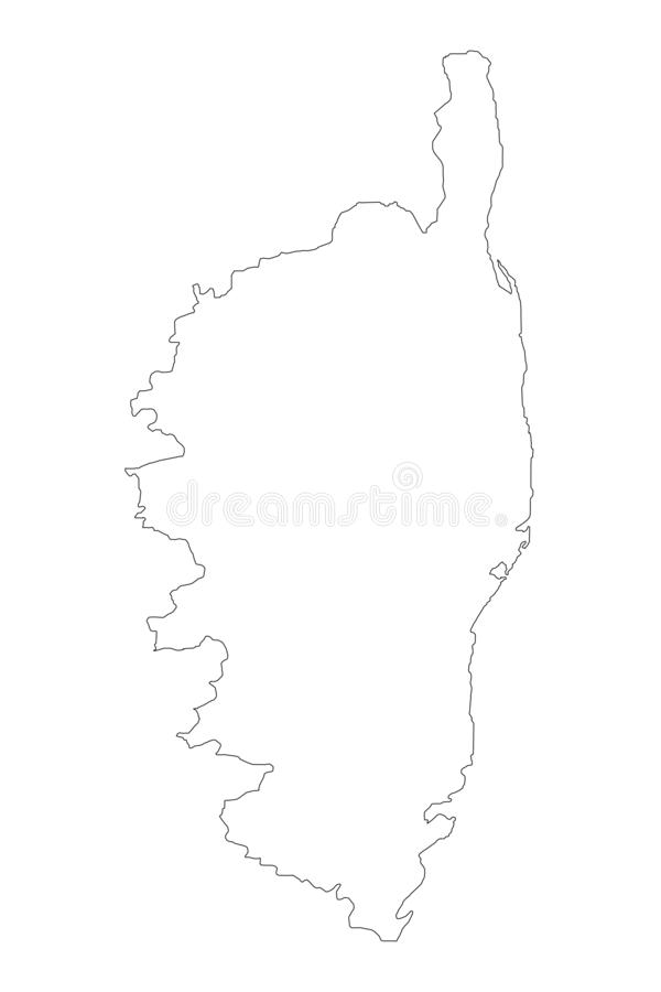 Corsica mapy wektor ilustracji