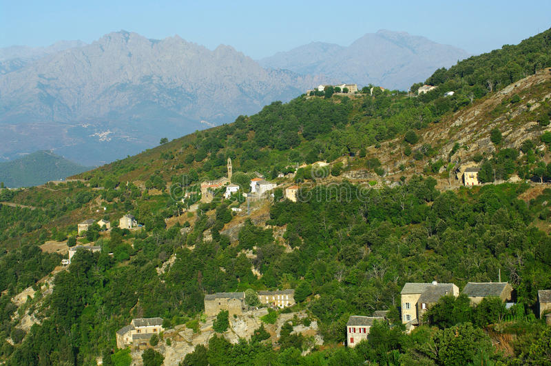 corsica morosaglia wioska obrazy royalty free