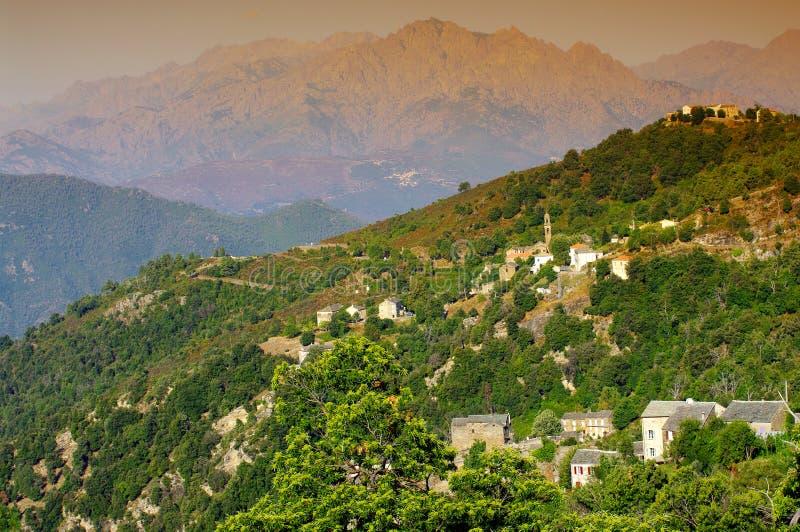 corsica morosaglia wioska fotografia royalty free