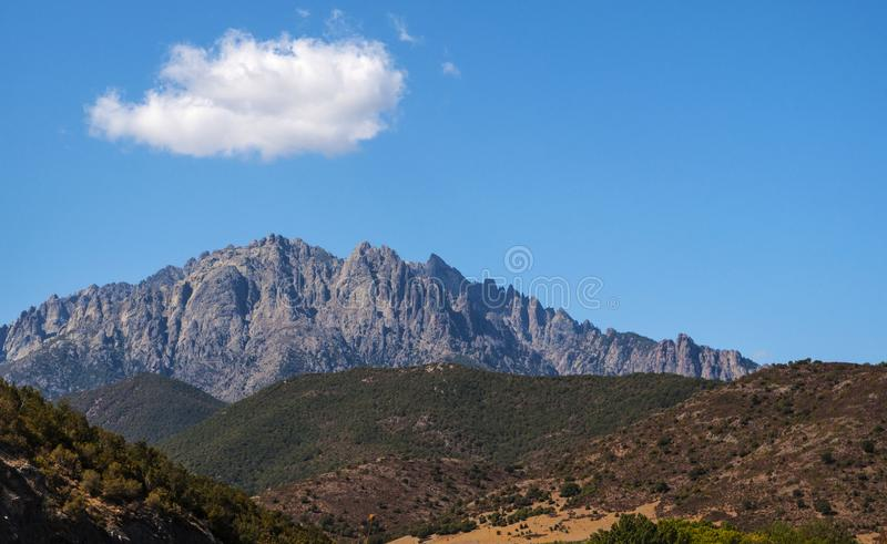 Corsica, Mount Cinto, wild landscape, Haute Corse, Upper Corse, France, Europe, Haut Asco, Asco Valley, High Center of Corsica royalty free stock image