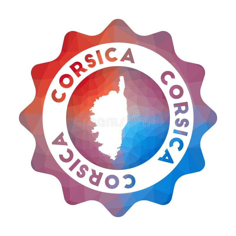 Corsica niski poli- logo ilustracji