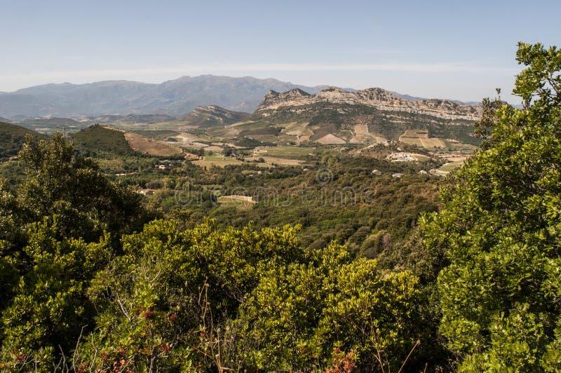 Patrimonio, Haute Corse, Corsica, Upper Corsica, France, Europe, island. Corsica, 28/08/2017: panoramic view of the landscape of the Haute Corse, Upper Corsica royalty free stock image