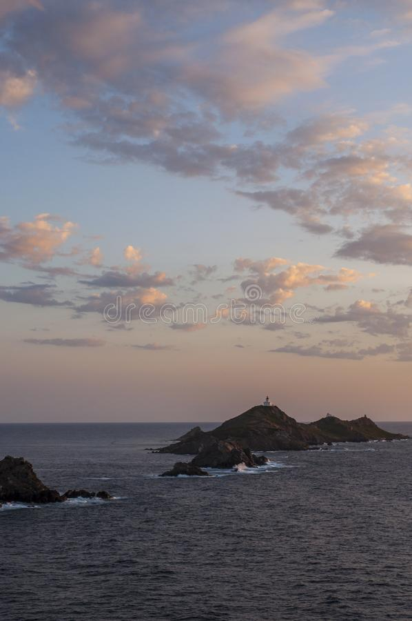 Iles Sanguinaires, Gulf of Ajaccio, Corsica, Corse, France, Europe, island royalty free stock image