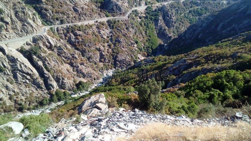 Corsica& x27; s-paysages arkivbild