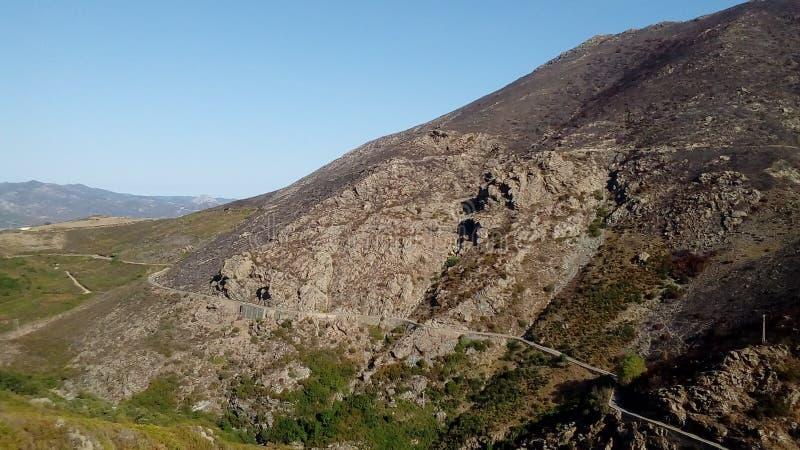 Corsica& x27; s-paysages arkivfoton