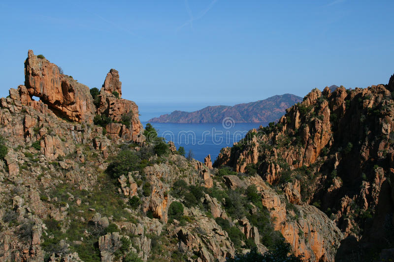 Download Corsica  sea and mountains stock photo. Image of boulders - 9519782