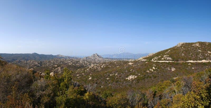 Corsica, wild landscape, Cap Corse, Haute Corse, Upper Corse, France, Europe. Corsica, 30/08/2017: the skyline and wild landscape of the Haute-Corse with stock image