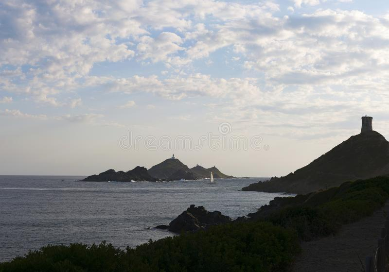 Iles Sanguinaires, Gulf of Ajaccio, Corsica, Corse, France, Europe, island royalty free stock photos