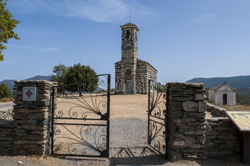 San Michele de Murato, church, Murato, Haute-Corse, Corsica, France, island, Europe royalty free stock photo