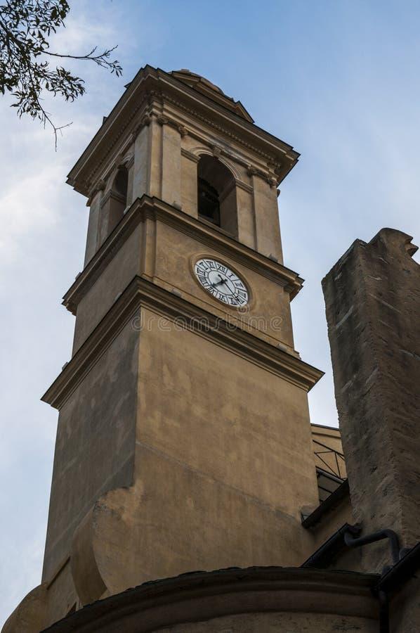Bastia, Corsica, Cap Corse, skyline, church, Saint John the Baptist, ancient. Corsica, 03/09/2017: view of the parish church of Saint John the Baptist, the stock photography