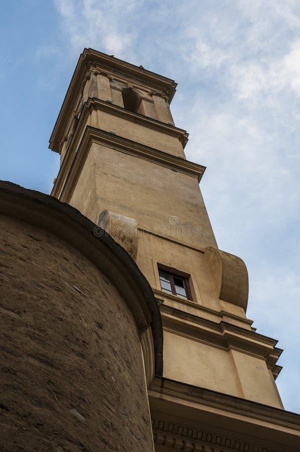 Bastia, Corsica, Cap Corse, skyline, church, Saint John the Baptist, ancient. Corsica, 03/09/2017: view of the parish church of Saint John the Baptist, the royalty free stock photos