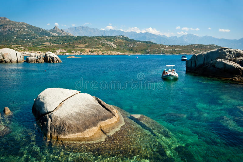 Corsica water (France) royalty free stock photos