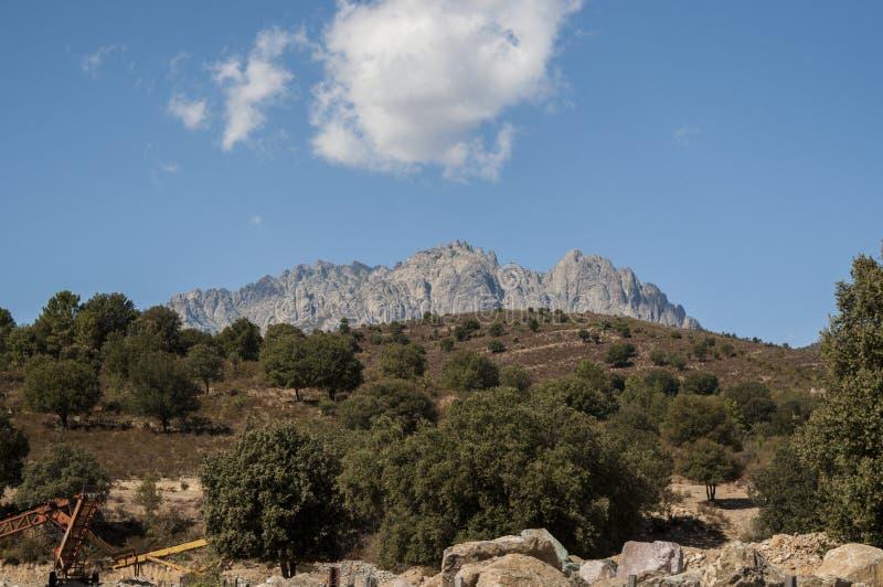 Corsica, Mount Cinto, wild landscape, Haute Corse, Upper Corse, France, Europe, Haut Asco, Asco Valley, High Center of Corsica. Corsica, 31/08/2017: the wild royalty free stock photography