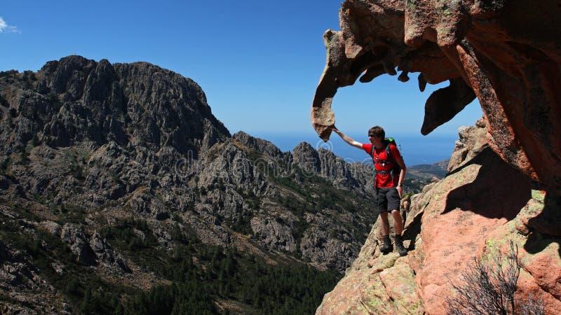 Corsica wycieczkować zdjęcia royalty free