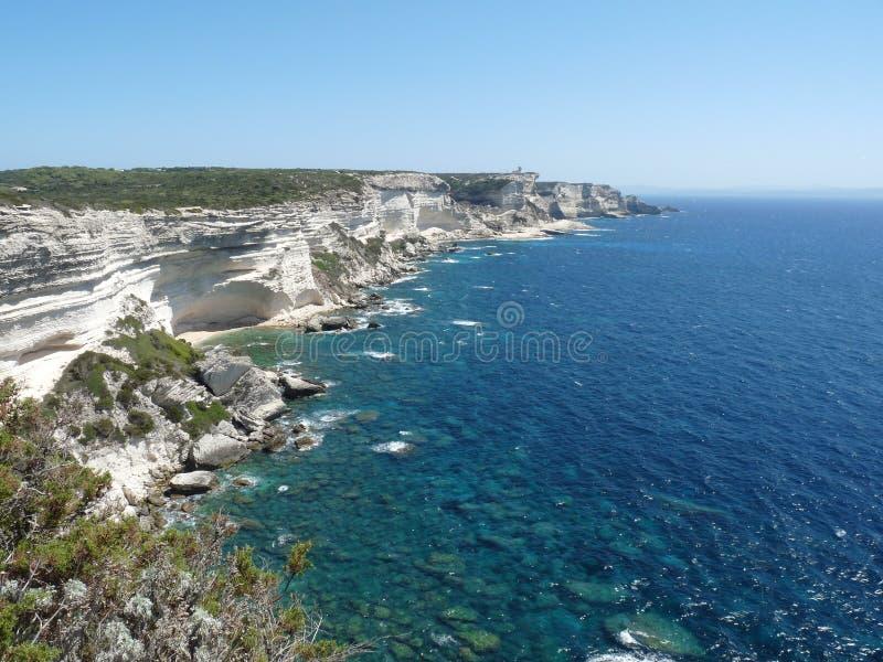 Corsican cliffs stock image