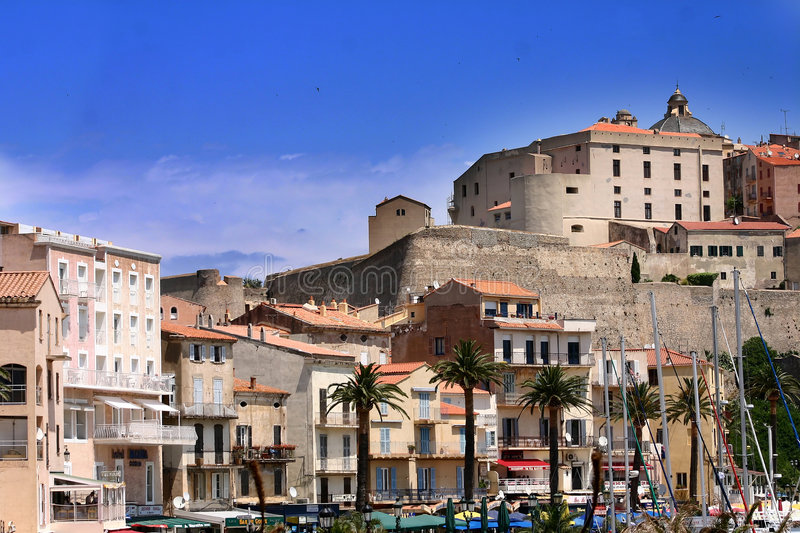 Corsican houses and buildings royalty free stock images