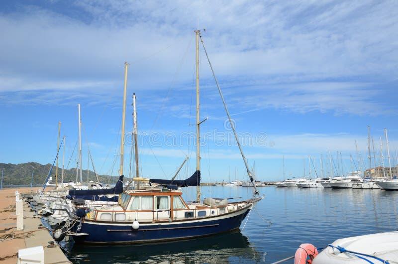 Corsican port Saint-Florent royalty free stock image