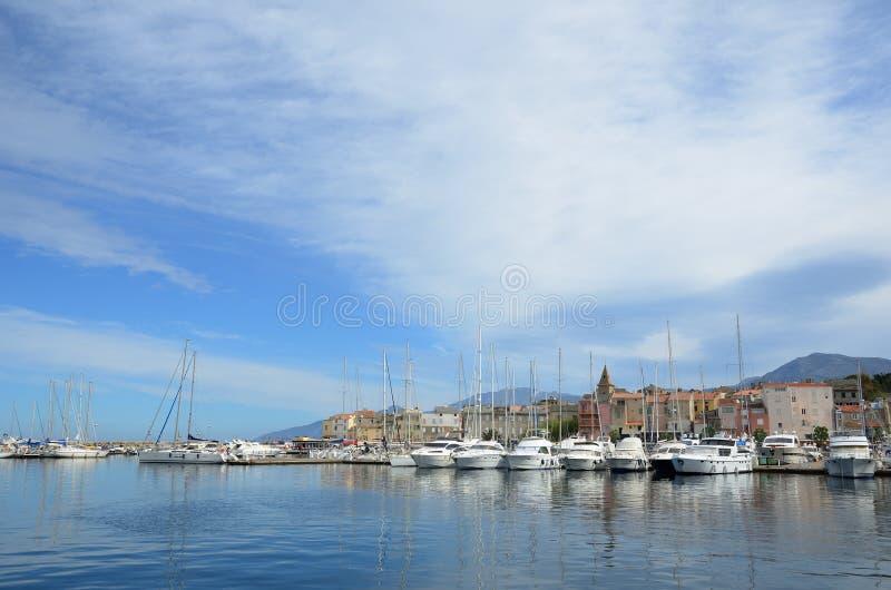 Corsican port Saint-Florent royalty free stock images