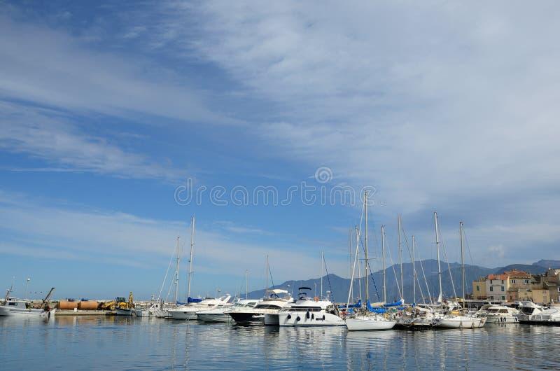 Corsican port Saint-Florent royalty free stock photo