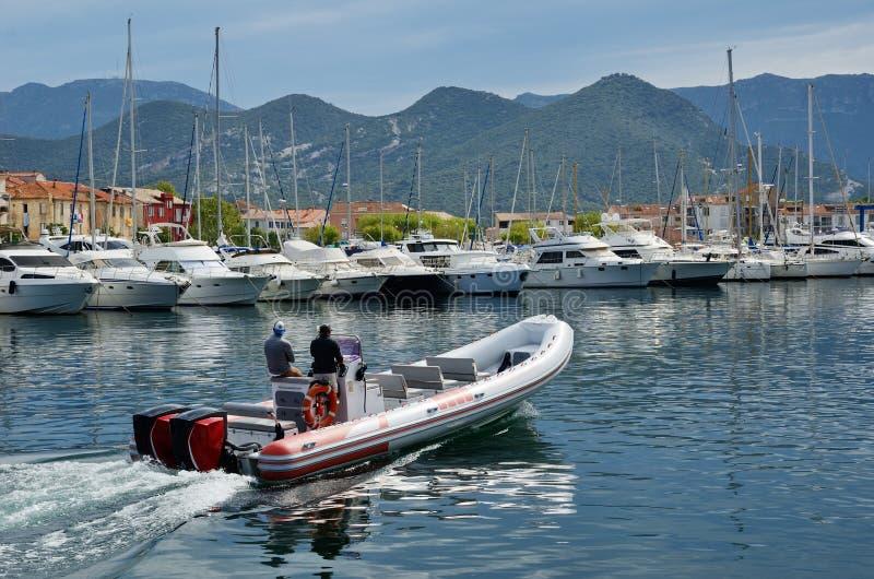 Corsican port Saint-Florent stock photos