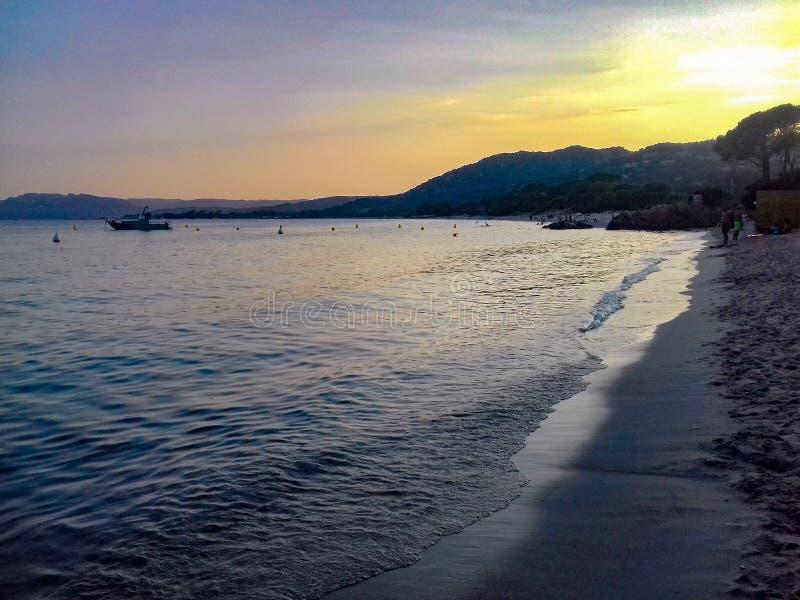 Corsican strand royaltyfri fotografi