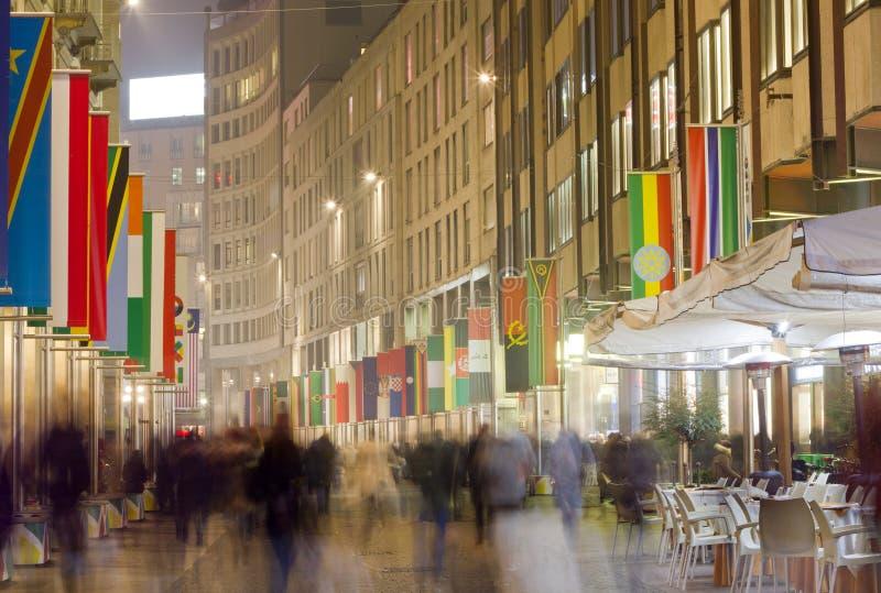 Download Corso Vittorio Emanuele In Milan Stock Photo - Image of dramatic, scene: 36078742