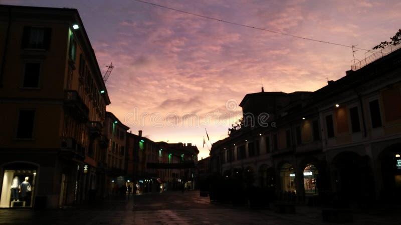 Corso Zanardelli, Brescia, Italia imágenes de archivo libres de regalías