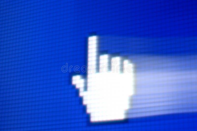 corsor手指 库存照片