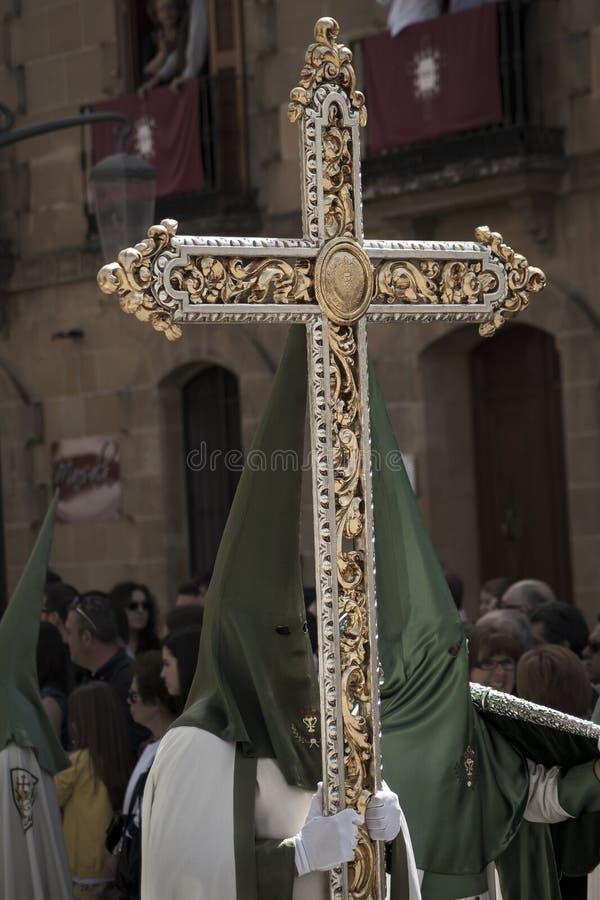 Cortège catholique croisé de guide photos libres de droits