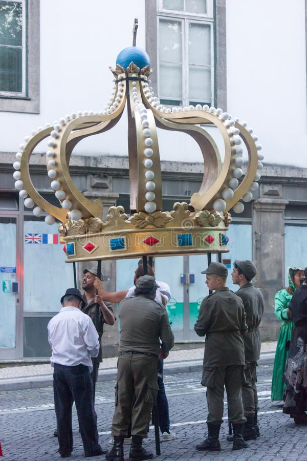 Cortège de Joao de sao le 22 juin à Porto, Portugal images stock