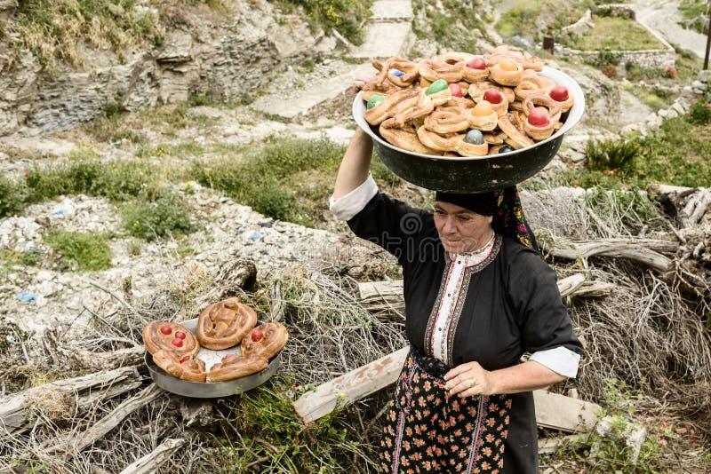 Cortège de Pâques dans Olympos, île de Karpathos images libres de droits