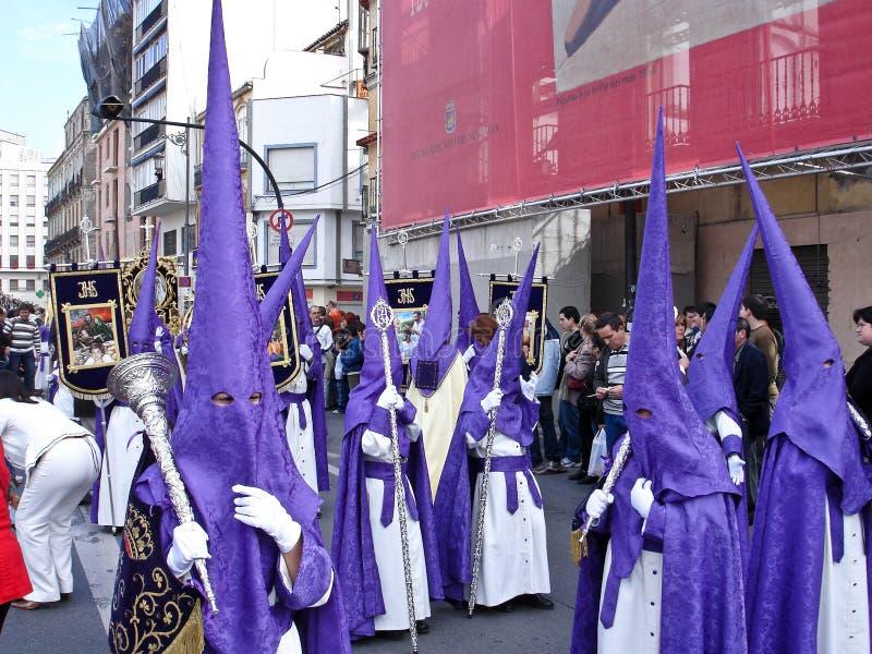 Cortège de Semana Santa (semaine sainte) photographie stock