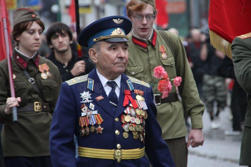 Cortège des communistes à Moscou photo libre de droits