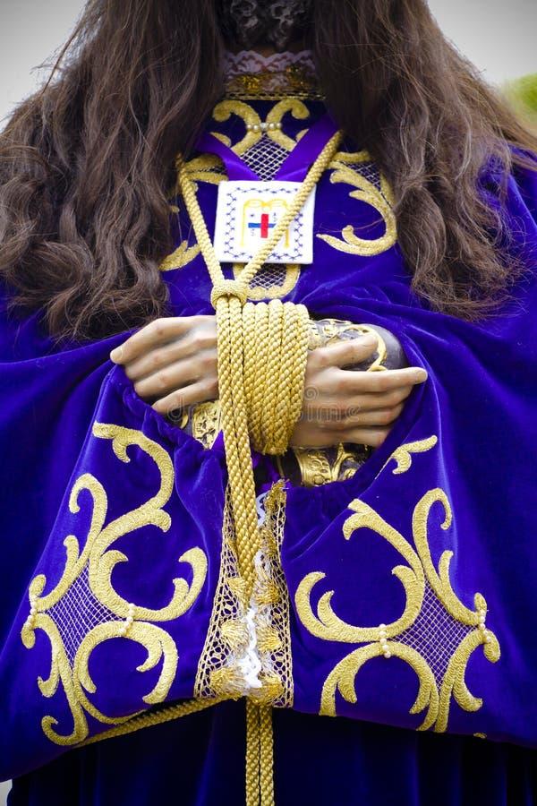 Cortège du Christ de medinaceli photographie stock
