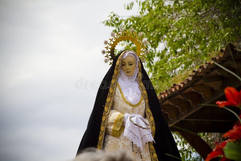 Cortège espagnol type de célébration de Pâques images stock
